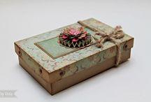 Caixa de papel decorada c ilhoses-Vintage inspired