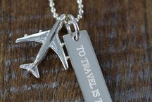 Jewelry for Pilots and Flight Attendants / Personalized and Custom Engraved Jewelry for Pilots and Flight Attendants or anybody who loves to fly.