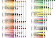 Neo 2 water colour crayon colour chart