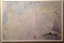 Il diluvio, 1999 / Oil on canvas, 100 x 50 cm