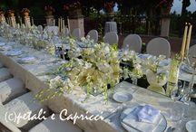Tavolo imperiale con riflessi..... / Tavolo imperiale con specchi e candele al Timeo di Taormina