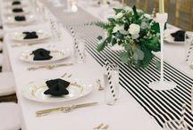 ஜ Wedding Mood ~ Black & White inspiration ஜ / Inspiration black & white #Mood_Event #decoration #mariage #candy_bar #centre_table