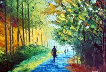 paintings / I am an artist. I do paintings ( landscape) using palette knife on canvas.