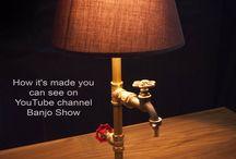 Steampunk DIY Industrial Pipe Lamp #1