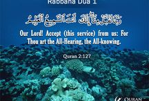"40 Rabbana Duas / 40 Duas from The Holy Quran  which start with ""Rabbana"" -  some of these Duas were made by different Prophets at different times of trial.   http://www.quranreading.com/blog/40-rabbana-duas/ / by QuranReading.com"