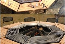 Feu de bois barbecue