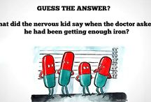 Healthy Fun Facts / This board has some fun facts and riddles about healthcare. make your day joyful and ask your children to solve these intresting riddles.