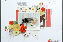My Creations / Scrapbook Layouts and Process Videos