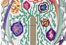 Modern cross stitch design