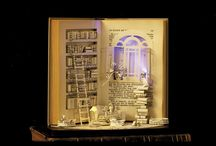 doll house book sculptures