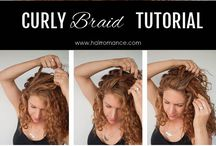 Curly Hair Hairstyle Tutorials / Hairstyle tutorials for curly hair - Hair Romance / by Hair Romance