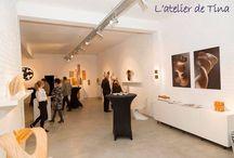 My studio and my project KINAKINA / Mon atelier et mon projet : l'Atelier d'Art et d'Eveil:  le Centre KINAKINA Center --- My studio: the place where I work and my project of Art & Awareness: KINAKINA Center --- www.kinakina.be