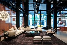 B&B Italia  | New Opening in New York / Inside the new Flagship store located in Madison Ave, New York. Designed by Antonio Citterio Patricia Viel Interiors with a focus on the building's original features, creating the perfect setting for our B&B Italia and Maxalto collections. #bebitalia #maxalto #newyork #antoniocitterio