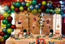 candy bar mesa tematica moana