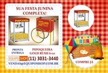 Sua Festa Junina Completa / Pronta Entrega Pipoqueira Gold Rush 6 oz (11) 3031-3440 - vendas@equiposhop.com.br