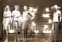 White window displays / Exciting displays from around the globe!