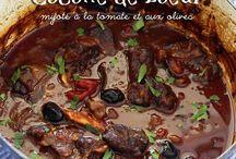 Bœuf à la tomate et olives