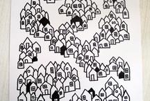 Tegne små huse