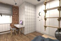 Projekt nowoczesnego, eleganckiego salonu i pokoi dzieci / Projekt nowoczesnego salonu oraz pokoi dzieciaków. Wszystko utrzymane w eleganckim stylu z przewagą ciepłych kolorów brązu i beżu.  Po więcej inspiracji zapraszamy na Naszą stronę internetową:biuro@monostudio.pl oraz na Facebooka