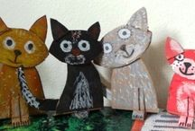 kočky/cat crafts for kids