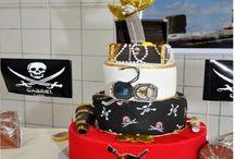 Decoração e comida Pirata