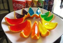 Food / cut in half, hollow out, pour in jelly, set, slice, serve!