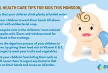 Useful Health CareTips For Kids This Monsoon / Take care of your child‬'s health by following ‪‎safety‬ tips during ‎monsoon‬.