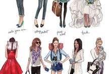 clothes & suits and costumes / Drawing
