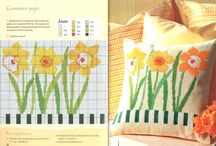 Schemi punto croce piante e fiori.