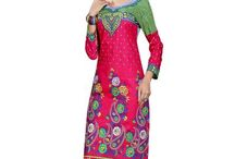 women cotton digital printed pink color unstiched kurti.