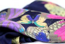 Foulard en soie papillon