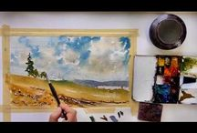 Vinita Pappas-Contemporary Watercolours / (US) Pappas has an impressionistic and masterful style, with a delightful touch, which is very expressive, and conveyed very well in her excellent tutorials.