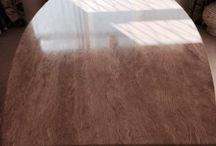 Travertine Table Polishing