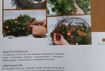 Efeukranz / Efeukranz weihnachtlich aus der Zeitschrift: Floristik für Weihnachten.
