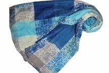 Checks, Spots & Stripes Design Print Scarves