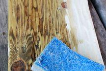 Как сделать древесину под старину