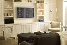 Salon bibliothèque TV