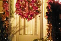 Christmas around my house / Christmas at my home.