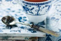 Blue and white Kéklő patina