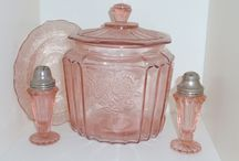 Rose depression glass
