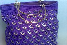 Blå taske med enkelt clips