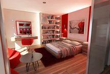 MIESZKANIE RED STYLE / Projekt mieszkania Red Style jest przykładem na to, jak kolor ulubionej szminki może stać się inspiracją do stworzenie ciepłego, kobiecego oraz emanującego dobrą energią wnętrza.