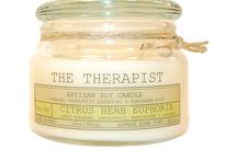 Latest Candle Creations / THE THERAPIST  ***Artisan Soy Candles***  Using 100% pure essential oils and high quality phthalate free fragrances in a natural soy wax to uplift the body mind and the spirit