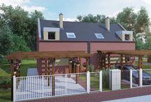 Typy pasivních domů ve Zloníně / V nabídce jsou dvojdomky nebo trojdomky s atikou či vikýři.