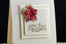 Stampin up christmas / Board using Stampin up products for Christmas cards