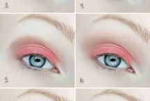 Розовый макияж глаз