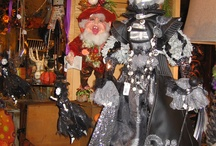 Collectibles / Collectibles from Katherine's and Mark Roberts capture our attention with their incredible detail, whimsy, extravagant costuming, and charm.  Add some animation to your holiday decorating with fairies, elves, witches, and ghouls.