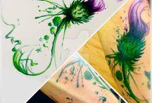 Thistle tatoo ideas