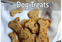 Apple, cheddar dog treats