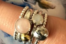 Handmade Rings / Handmade sterling silver rings with semi-precious stones